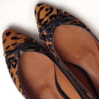 Leopard Ballerinas